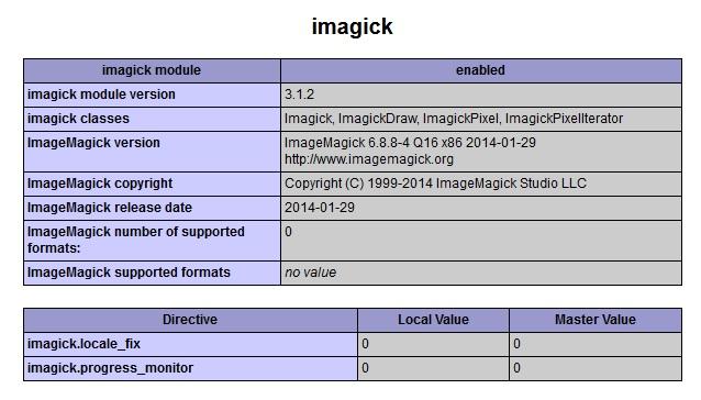 Imagick en Wamp